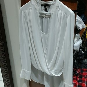 Bcbg long sleeve blouse off white
